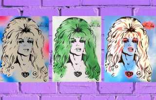 When Doris Fish Resurfaced - 'Blonde Sin' silkscreens at the 2007 Castro Street Fair