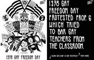 Win Mixter's bus posters celebrate 50 years of Pride