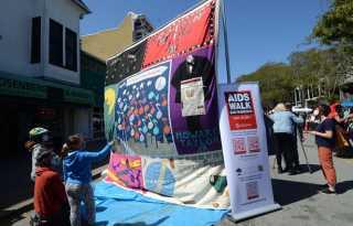 AIDS quilt promotes walk