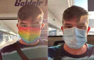 Rainbow mask doesn't fly for gay Lufthansa passenger